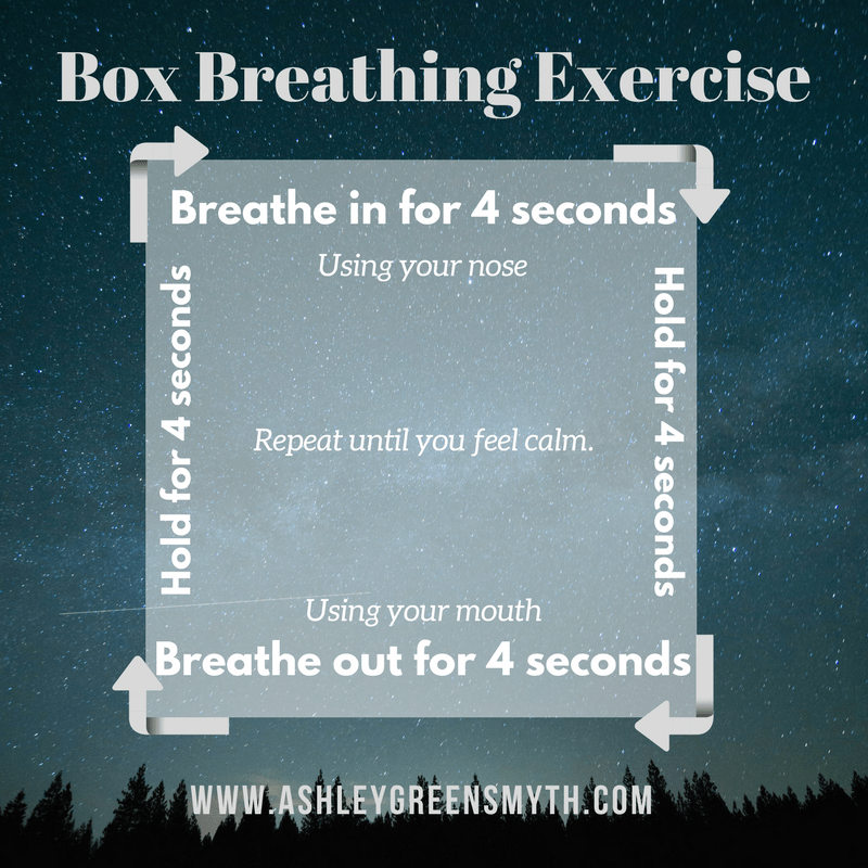 Calm breathing exercise